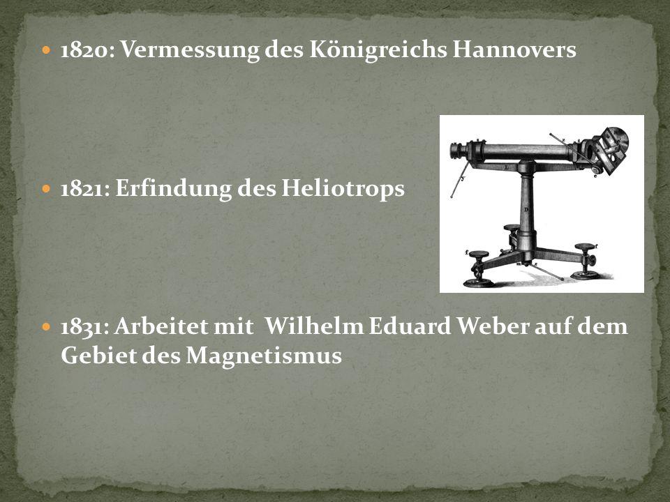 1820: Vermessung des Königreichs Hannovers