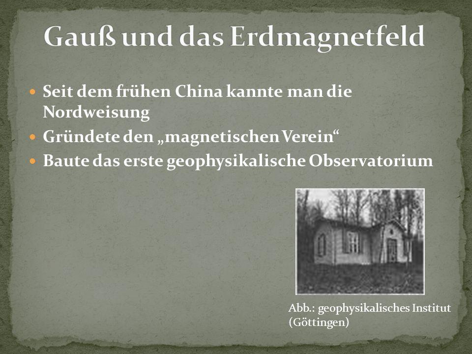 Gauß und das Erdmagnetfeld