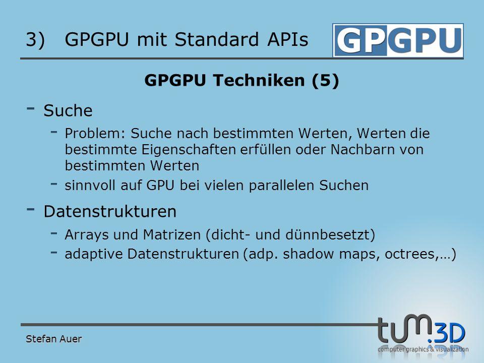 GPGPU mit Standard APIs