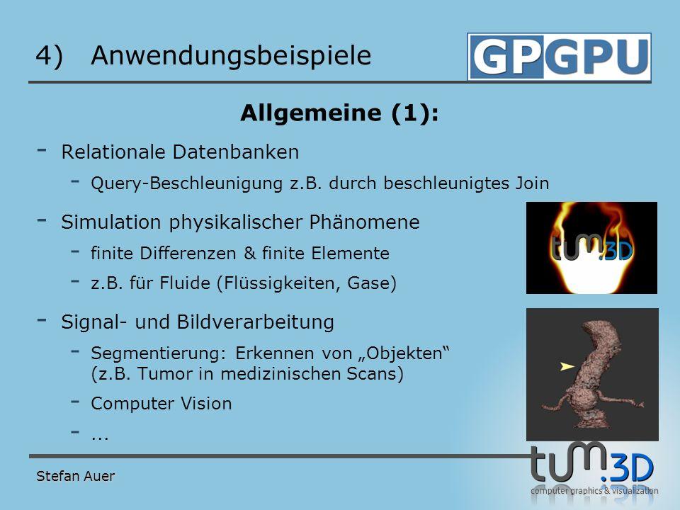 Anwendungsbeispiele Allgemeine (2): Global Illumination Ray tracing
