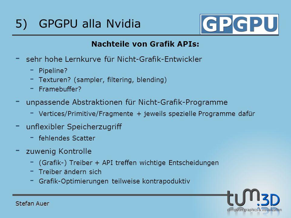 GPGPU alla Nvidia Nvidia G80 als GPU Stefan Auer Quelle: Nvidia L2 FB