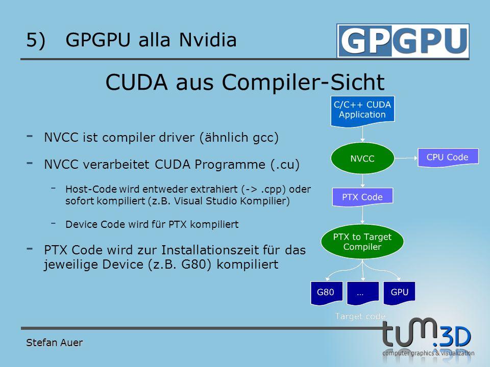 GPGPU alla Nvidia PTX PTX: parallel thread execution