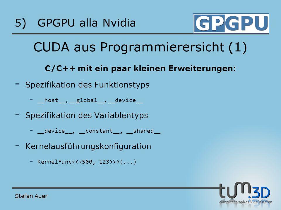 CUDA aus Programmierersicht (2)
