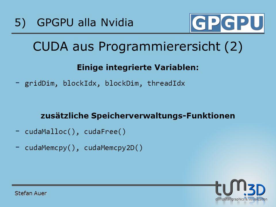 CUDA Beispiel: Matrix Mul