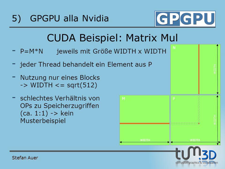 Matrix Mul als Host (CPU) Programm