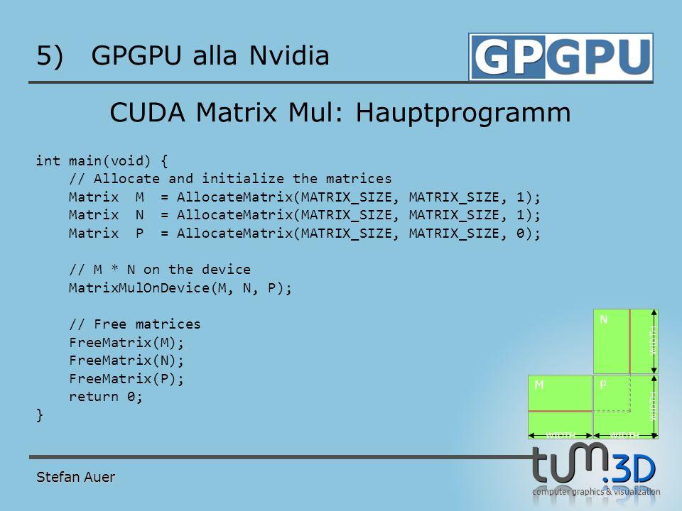 CUDA Matrix Mul: Host Funktion (1)