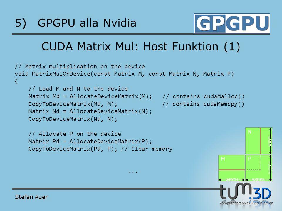 CUDA Matrix Mul: Host Funktion (2)