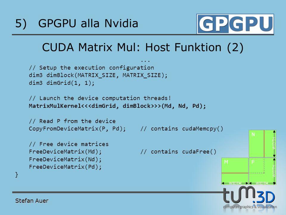 CUDA Matrix Mul: Kernel