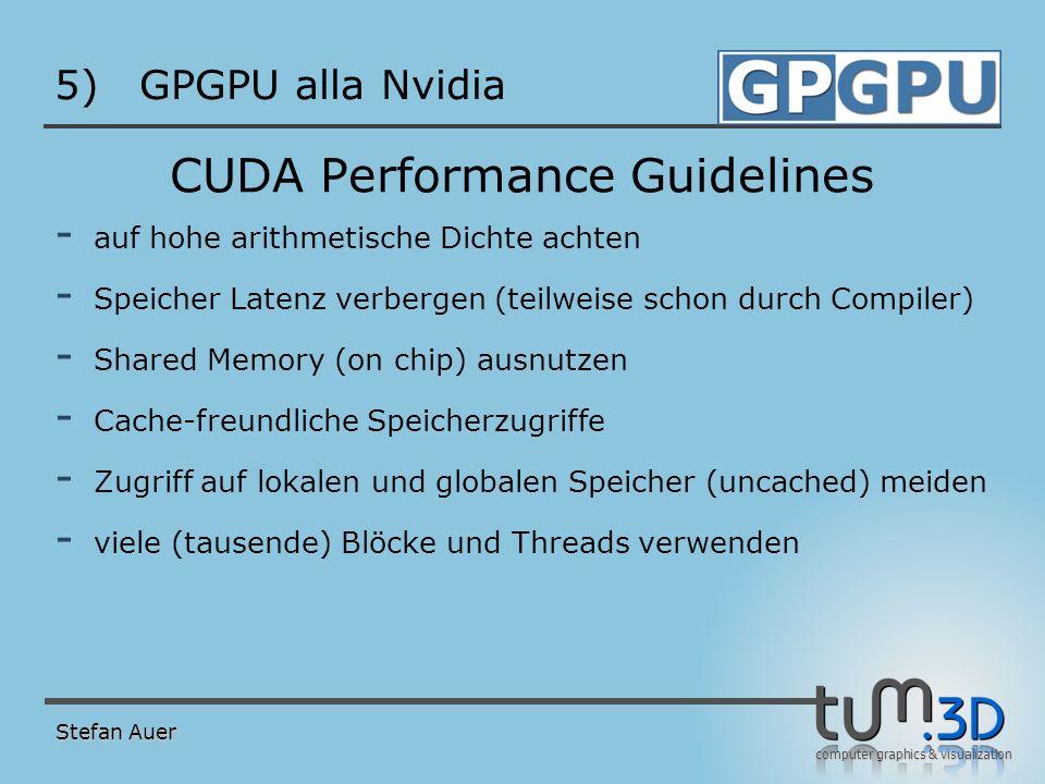 Zukunft von CUDA GPGPU alla Nvidia