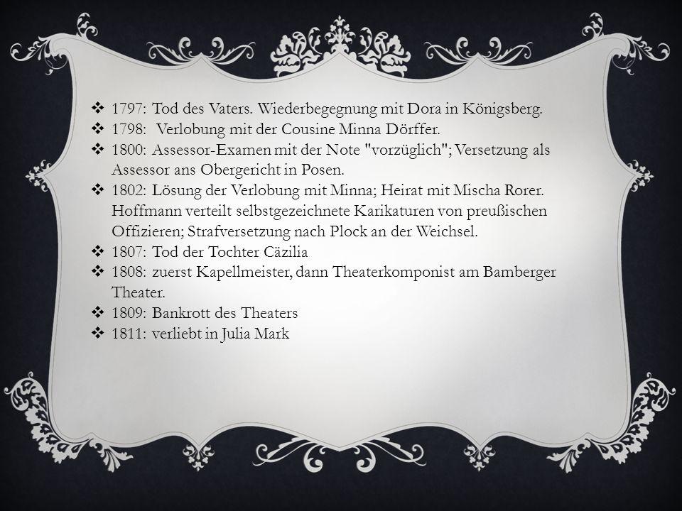 1797: Tod des Vaters. Wiederbegegnung mit Dora in Königsberg.