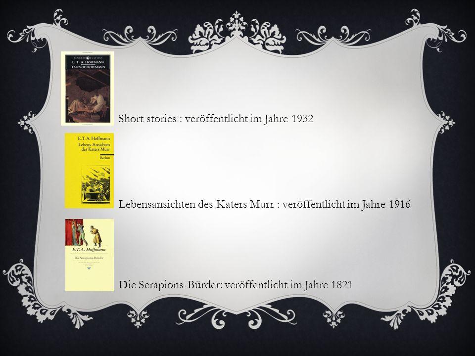 Short stories : veröffentlicht im Jahre 1932