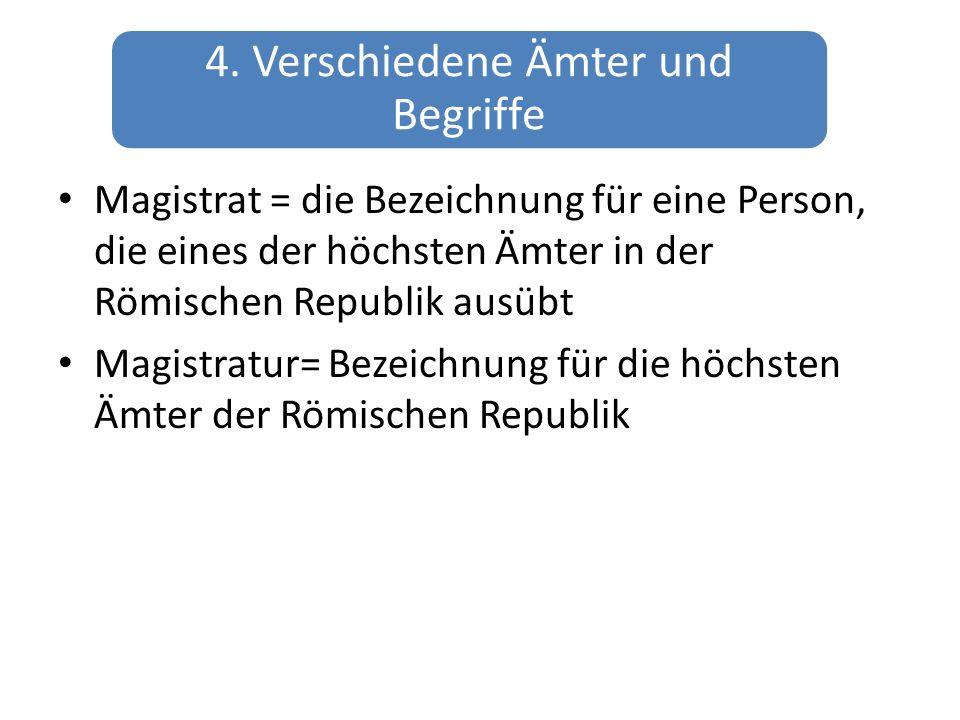 4. Verschiedene Ämter und Begriffe