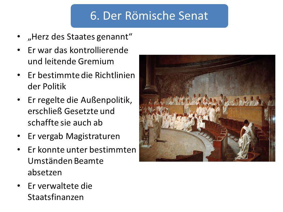 """6. Der Römische Senat """"Herz des Staates genannt"""