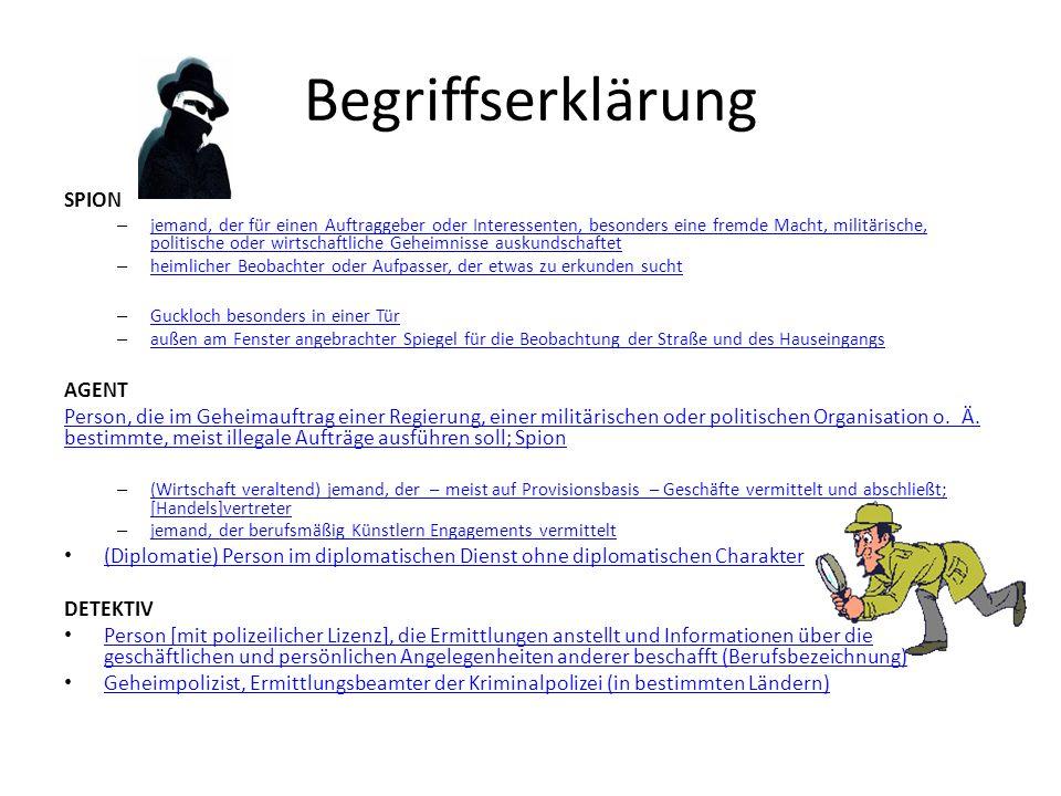 Begriffserklärung SPION AGENT
