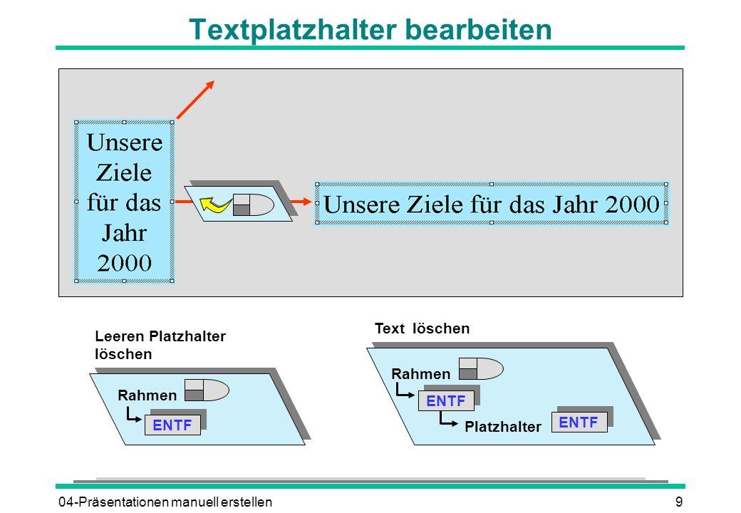 Textplatzhalter bearbeiten