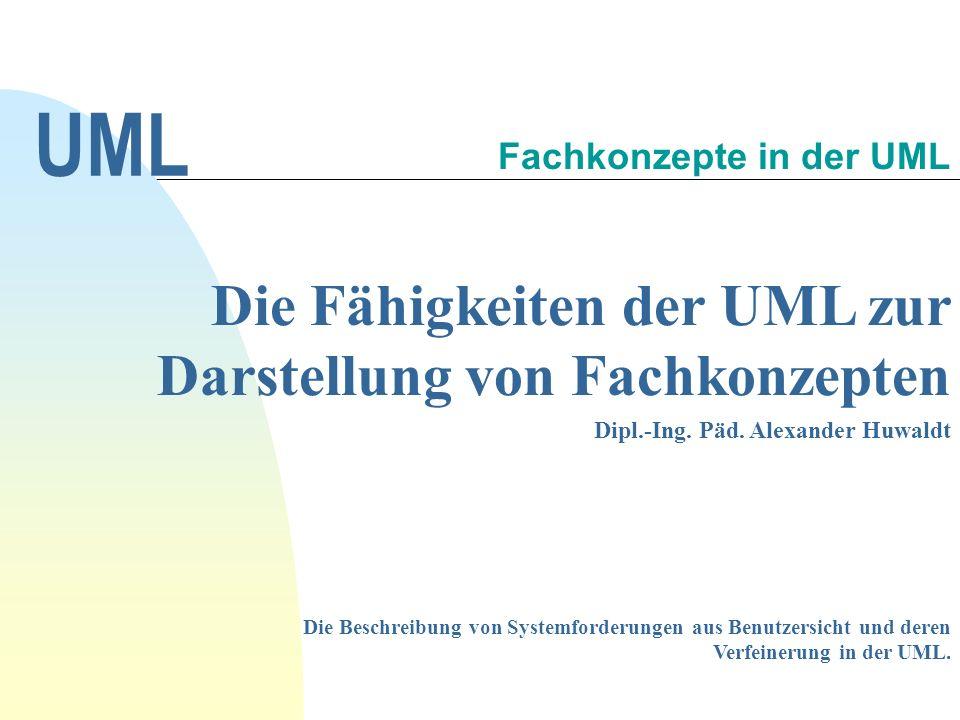 Fachkonzepte in der UML