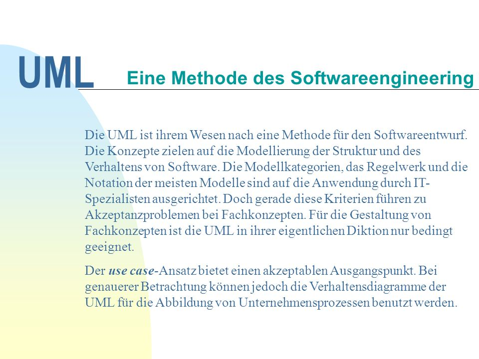 Eine Methode des Softwareengineering