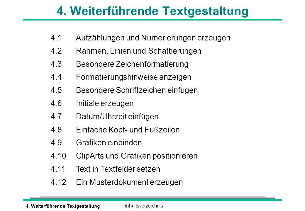 4. Weiterführende Textgestaltung