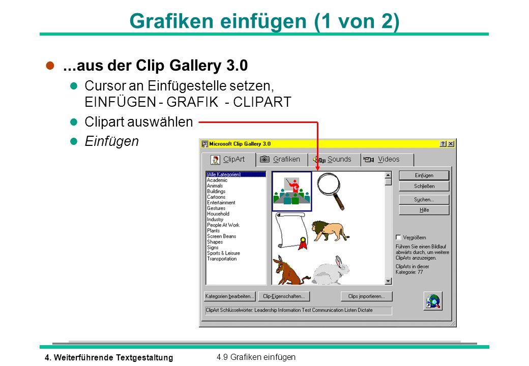 Grafiken einfügen (1 von 2)