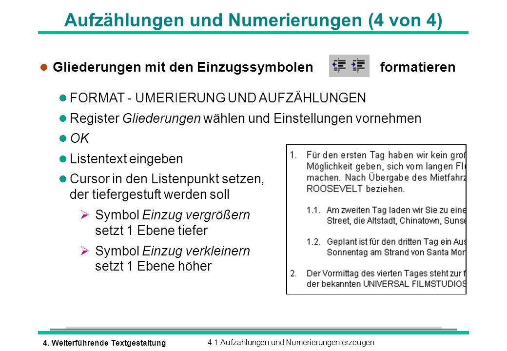 Aufzählungen und Numerierungen (4 von 4)
