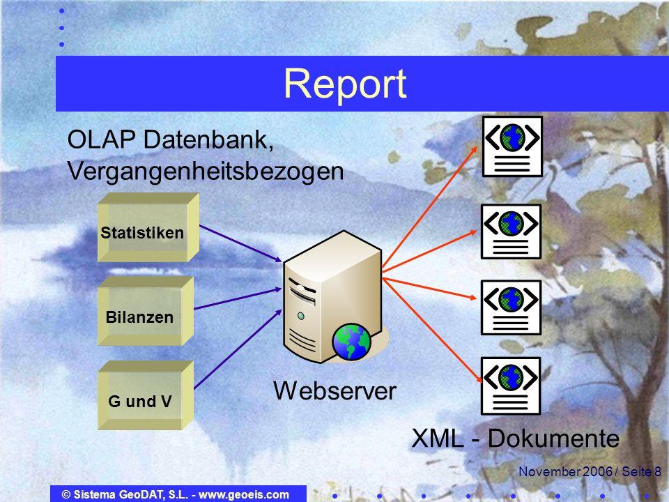 Report OLAP Datenbank, Vergangenheitsbezogen Webserver XML - Dokumente
