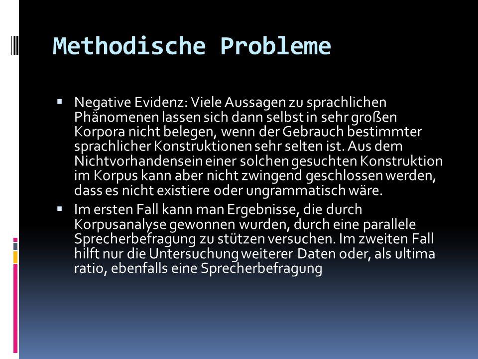 Methodische Probleme