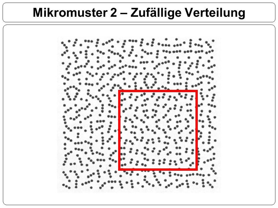 Mikromuster 2 – Zufällige Verteilung