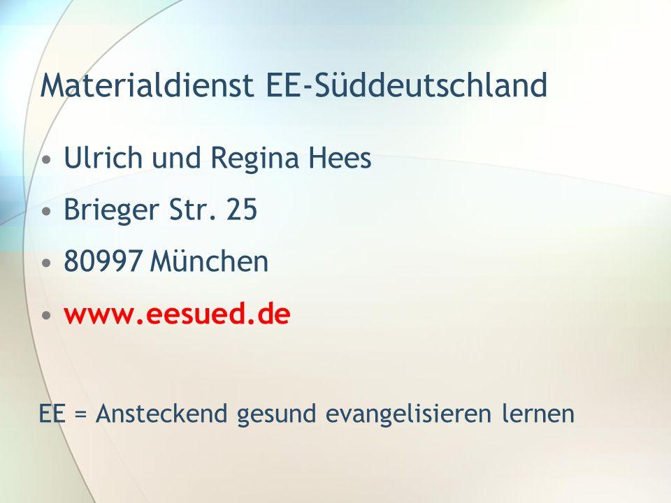 Materialdienst EE-Süddeutschland