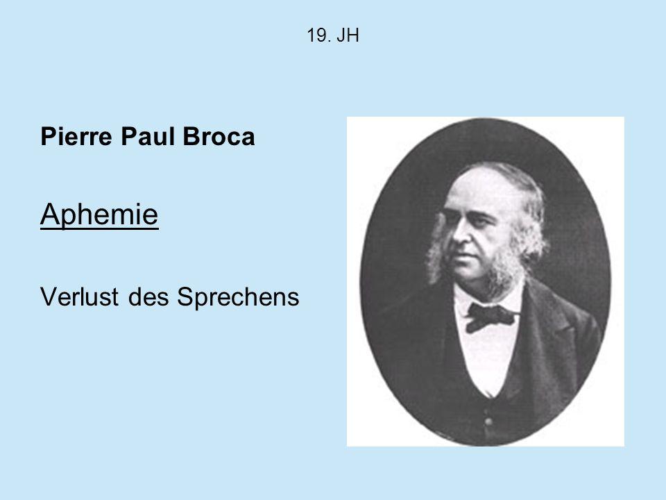 19. JH Pierre Paul Broca Aphemie Verlust des Sprechens