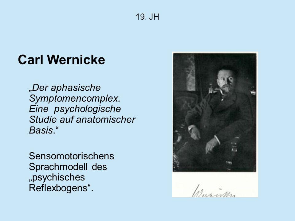 """19. JH Carl Wernicke. """"Der aphasische Symptomencomplex. Eine psychologische Studie auf anatomischer Basis."""