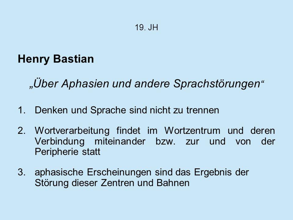 """""""Über Aphasien und andere Sprachstörungen"""