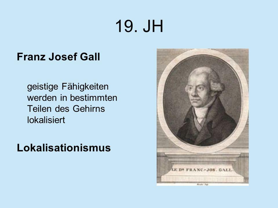 19. JH Franz Josef Gall Lokalisationismus