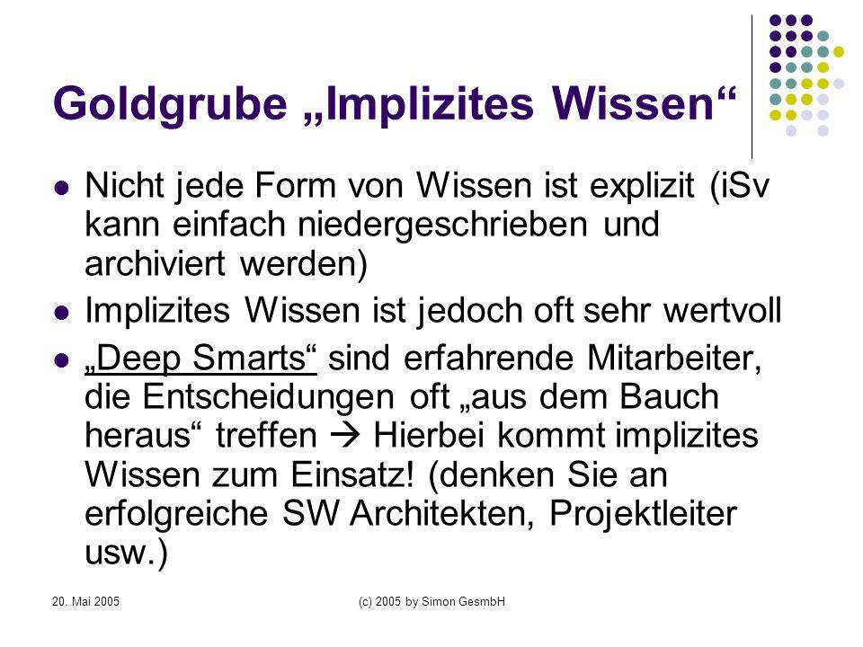 "Goldgrube ""Implizites Wissen"