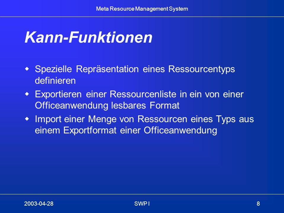 Kann-Funktionen Spezielle Repräsentation eines Ressourcentyps definieren.