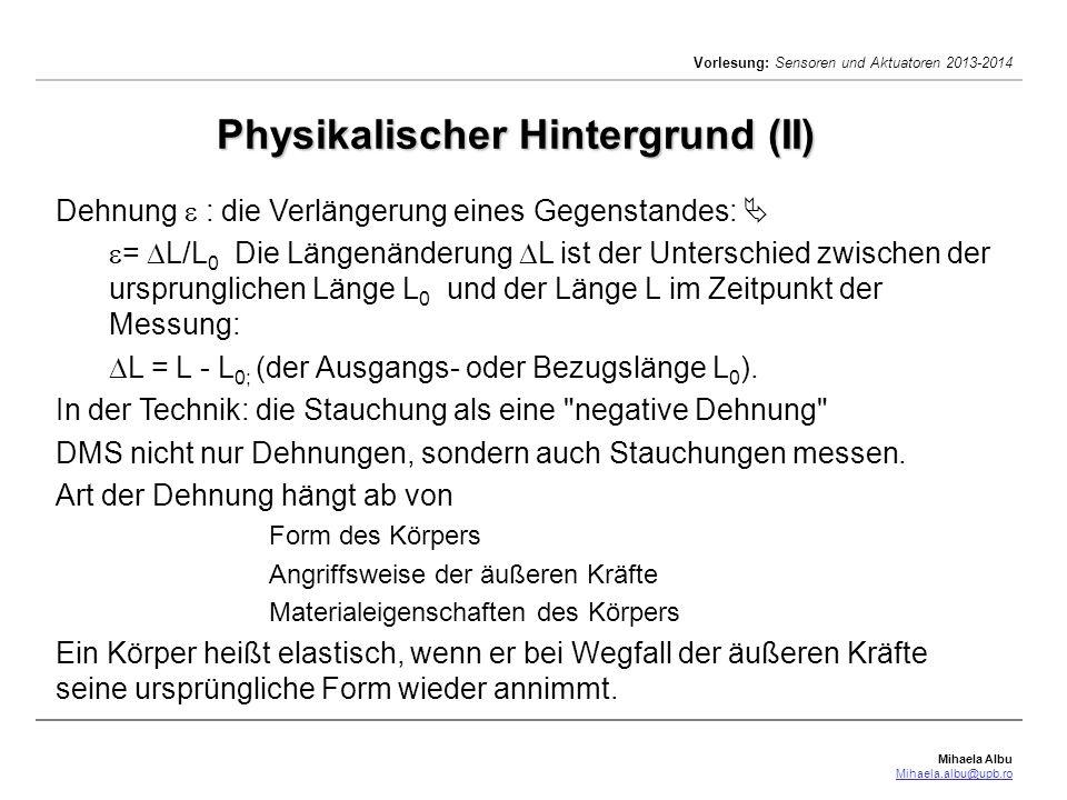 Physikalischer Hintergrund (II)