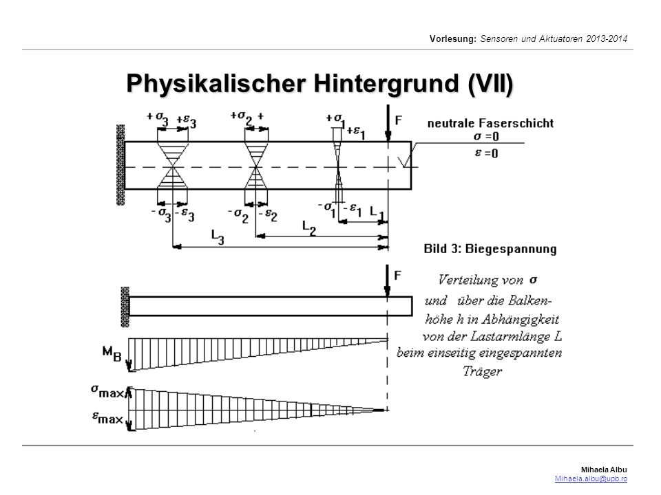 Physikalischer Hintergrund (VII)