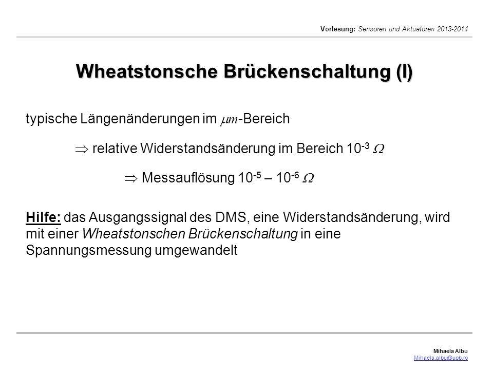 Wheatstonsche Brückenschaltung (I)