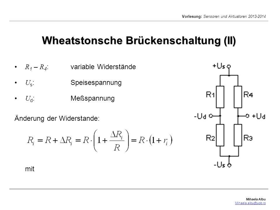 Wheatstonsche Brückenschaltung (II)