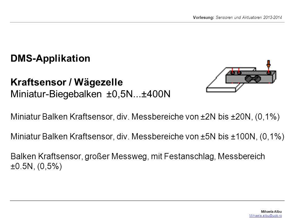 DMS-Applikation Kraftsensor / Wägezelle Miniatur-Biegebalken ±0,5N
