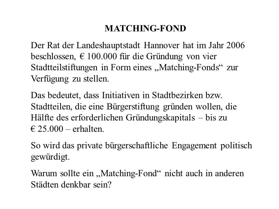 MATCHING-FOND