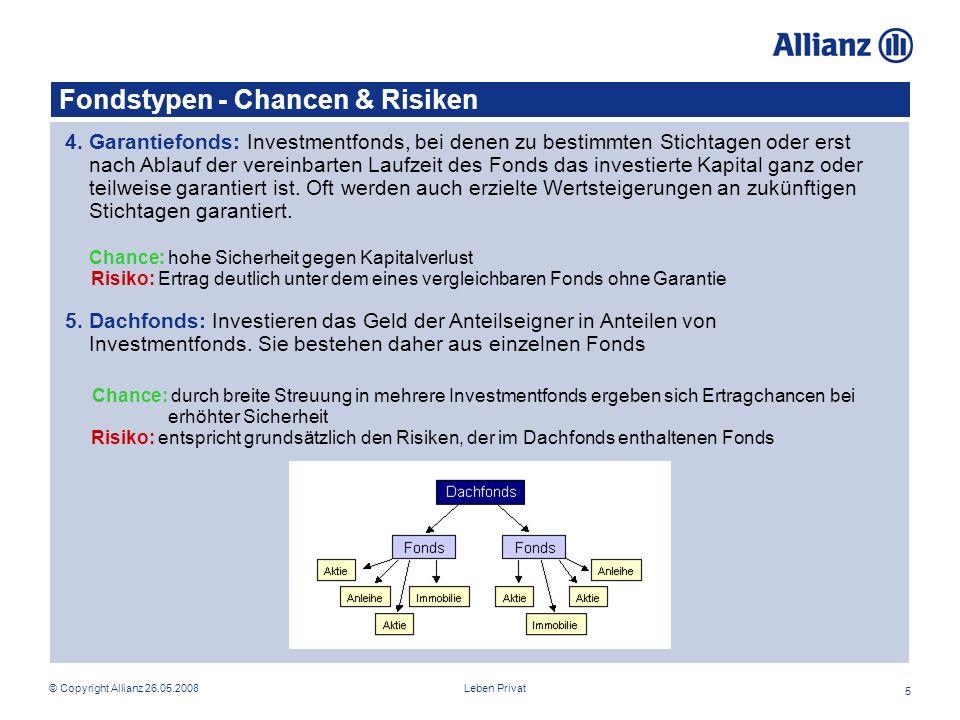 Fondstypen - Chancen & Risiken