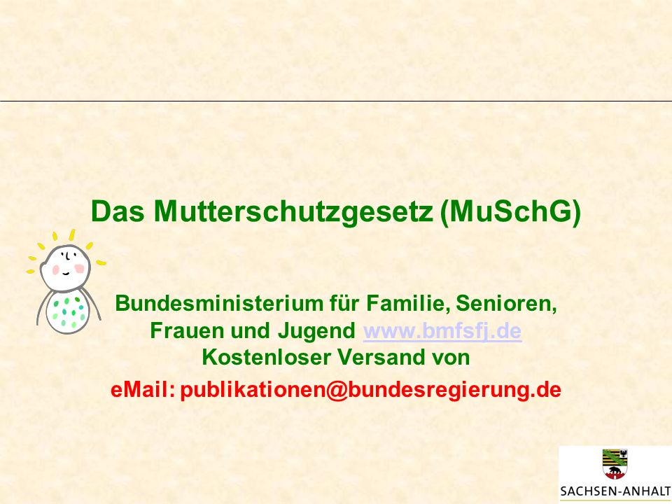 Das Mutterschutzgesetz (MuSchG)