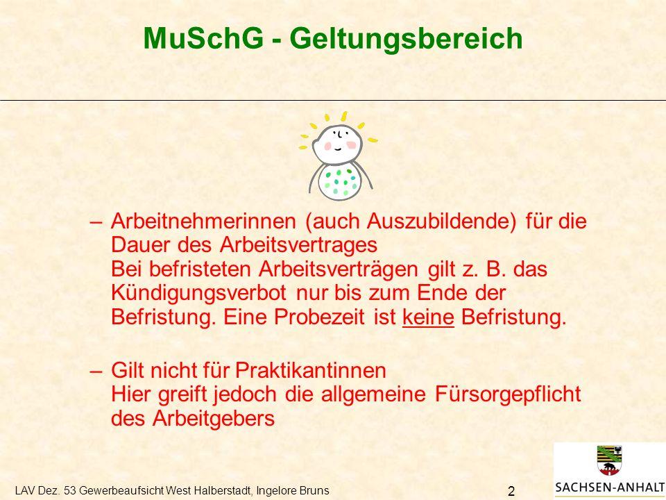 MuSchG - Geltungsbereich