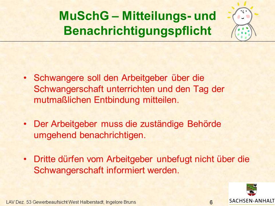 MuSchG – Mitteilungs- und Benachrichtigungspflicht