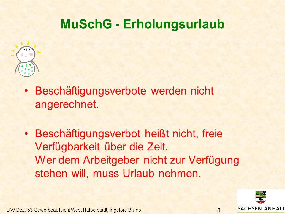 MuSchG - Erholungsurlaub