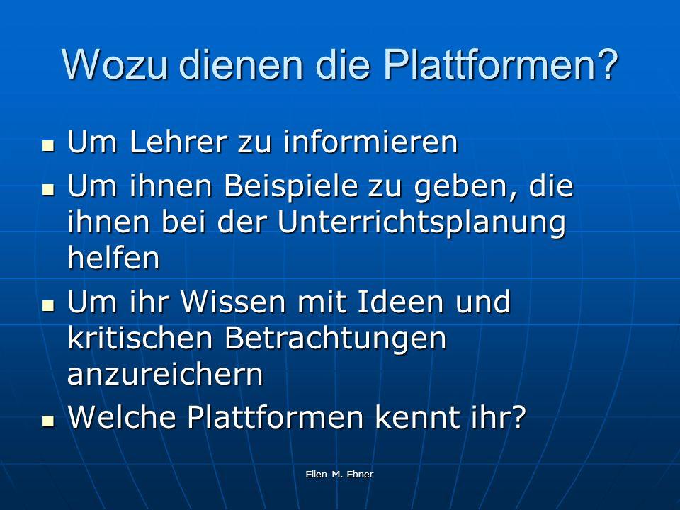 Wozu dienen die Plattformen