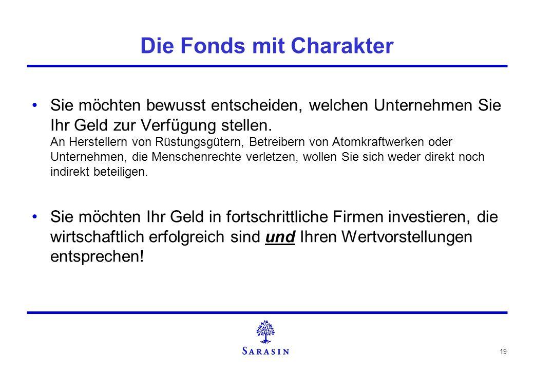 Die Fonds mit Charakter