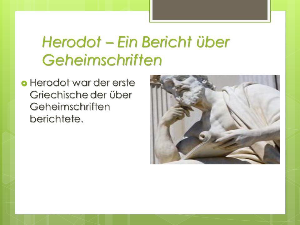 Herodot – Ein Bericht über Geheimschriften