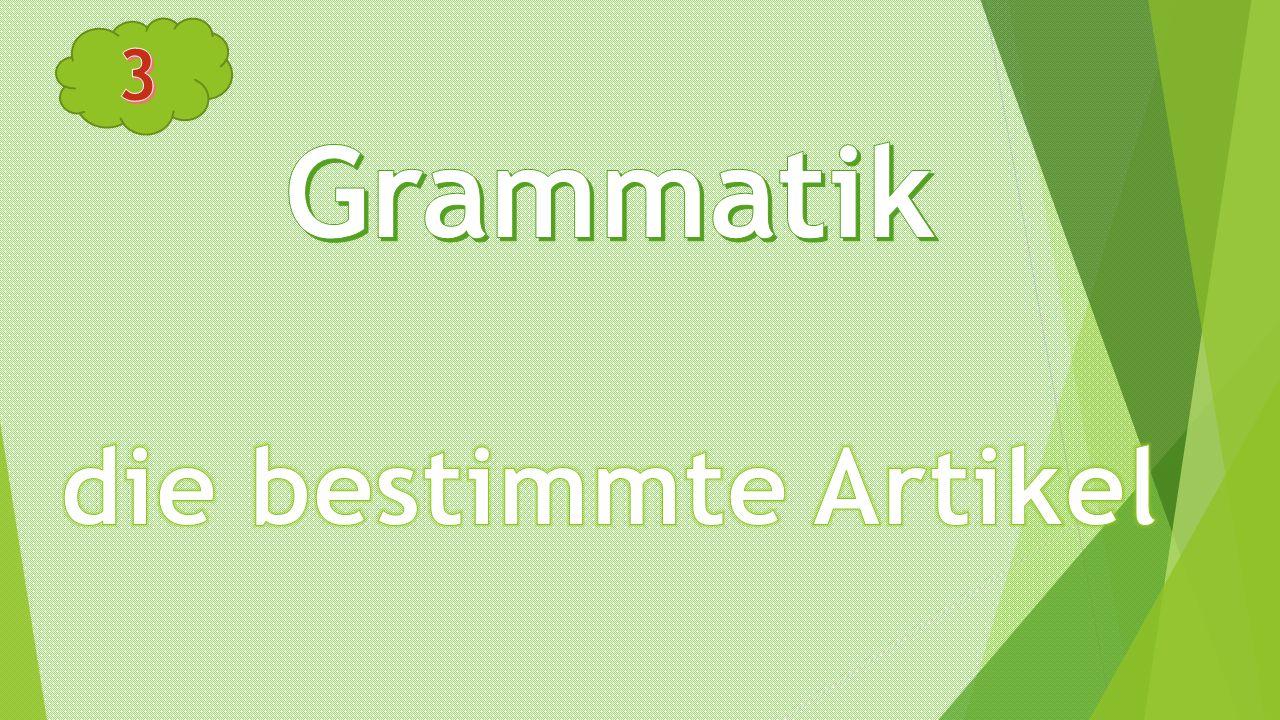 3 Grammatik die bestimmte Artikel