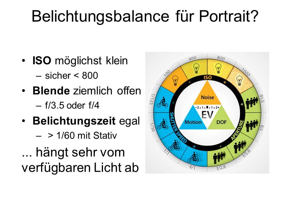 Belichtungsbalance für Portrait